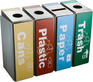 stainless steel waste can with sticker for Singapore market HW-156