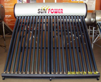Unpressurized Solar Water Heater Stainless Steel