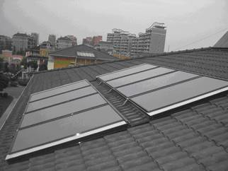 Small Flat Plate Solar Thermal Collector System