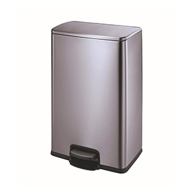 Hotel Anti-Fingerprint Pedal Bin Square (40 L) Kl-026