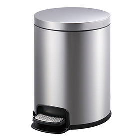 Household Foot Pedal Round Stainless Steel Bedroom Trash Can (20 L/KL-029)