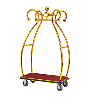 Stainless Steel Luggage Trolley for Hotel Lobby (XL-23)