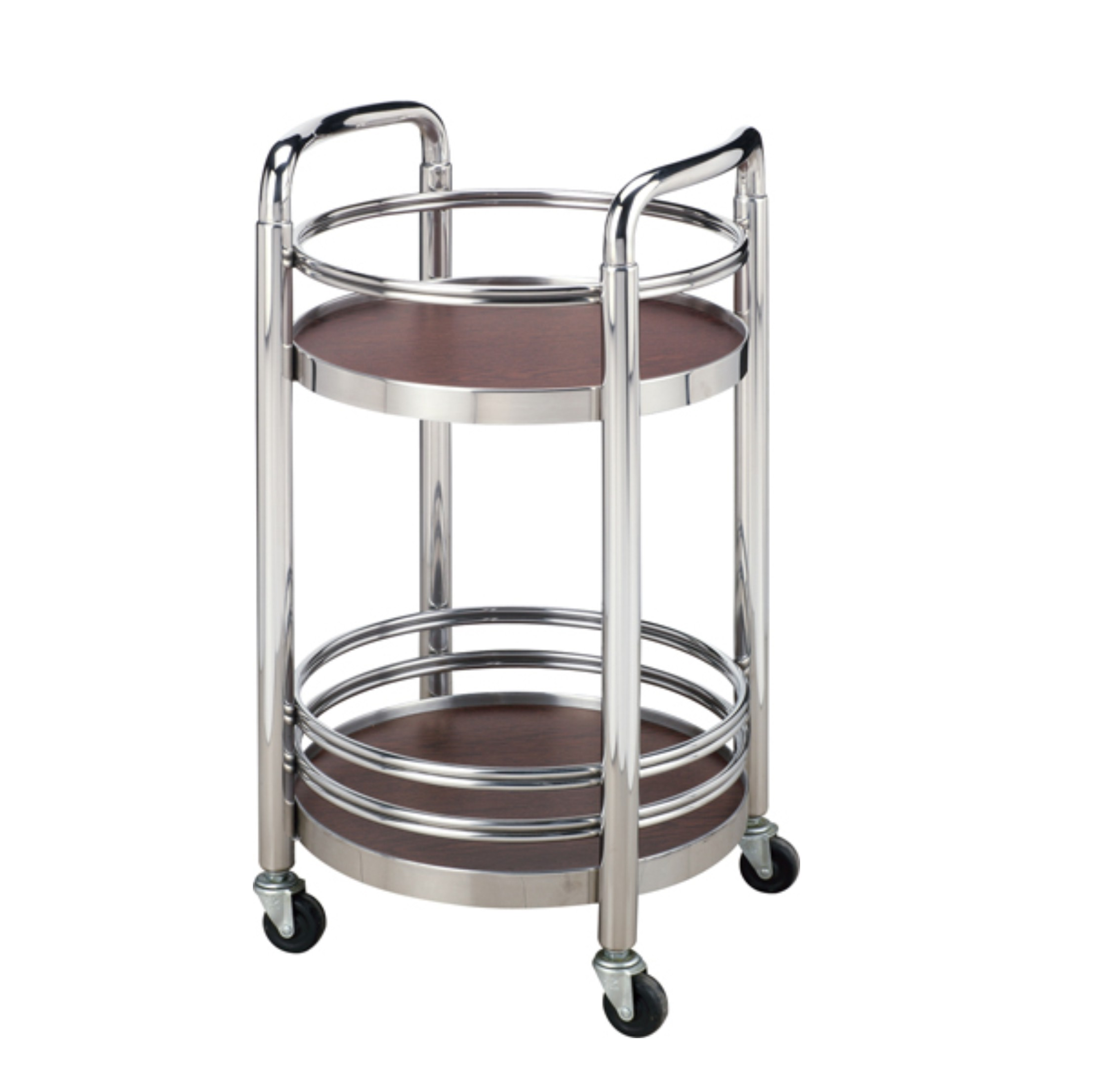 Round Two-Ties Stainless Steel Hotel Liquor Trolley (FW-101)