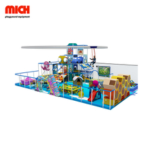 Delicate Kids Indoor Soft Playground com planador