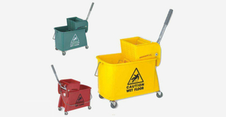 Plastic Portable Single Bucket Wringer Trolley (YG-37)