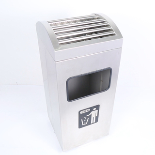 Luxury Sand Grain Steel Dustbin for Lobby (YH-303)
