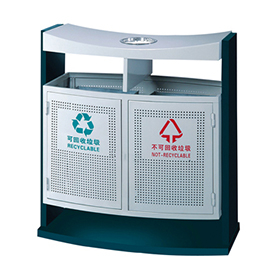 Lockable Outdoor waste bin with iron coated HW-68