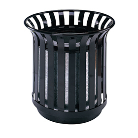 Flower pot Outdoor waste can with iron coated and galvanized sheet inner bin HW-98
