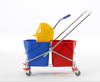 2-Bucket Wringer Trolley for Cleaning (YG-071)