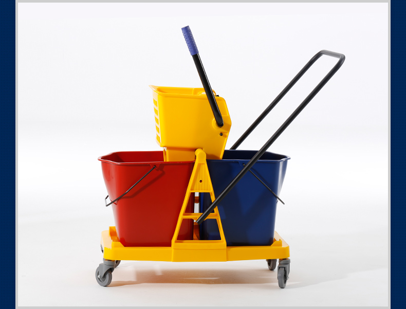2-Bucket Wringer Trolley for Cleaning Mop (YG-073)