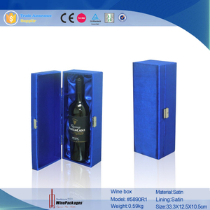 high end luxury satin material customized wine box packaging