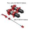 MT - 010F / RCB CNC Hot Sale Red Black 32h High Quality Mountain Bike Hub Carbon Fiber MTB Hubs Bicycle Wheels Hub Bicycle Hub