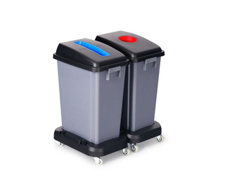 Plastic Garbage Can with Wheels (KL-039)