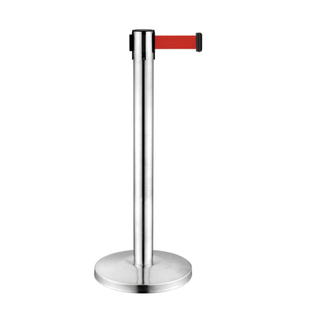 Stainless Steel Retractable Belt Railing Stand for Subway(LG-16)