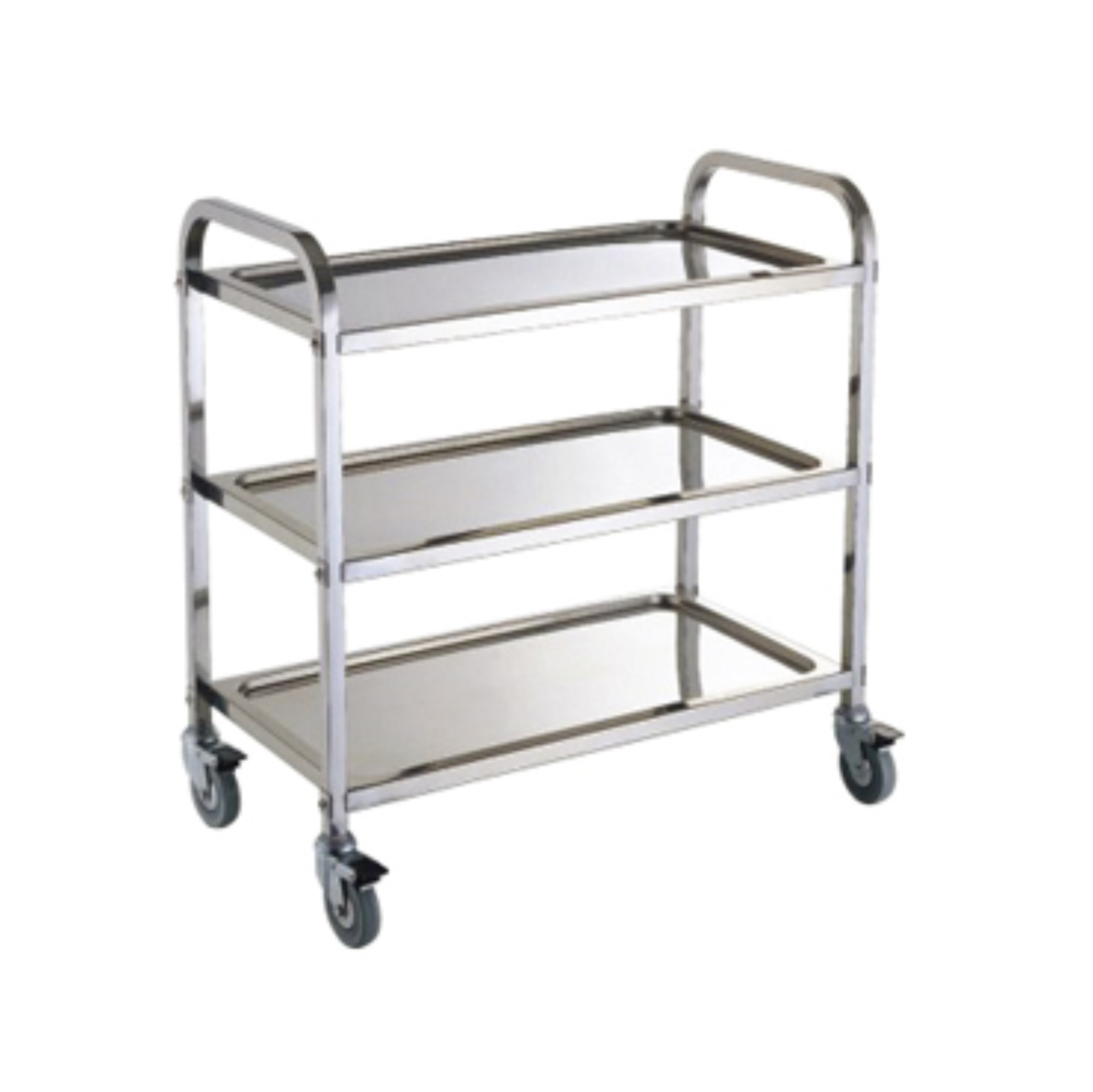 Stainless Steel Hotel Service Cart/Restaurant Service Trolley (FW-12)