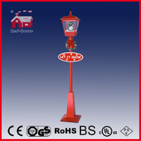 (LV180H-RR) Cute Snowman Decoration Red Festival Street Lamp Holiday Gifts