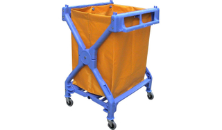 Plastic Laundry Cart for Hotel Guestroom Cleaning