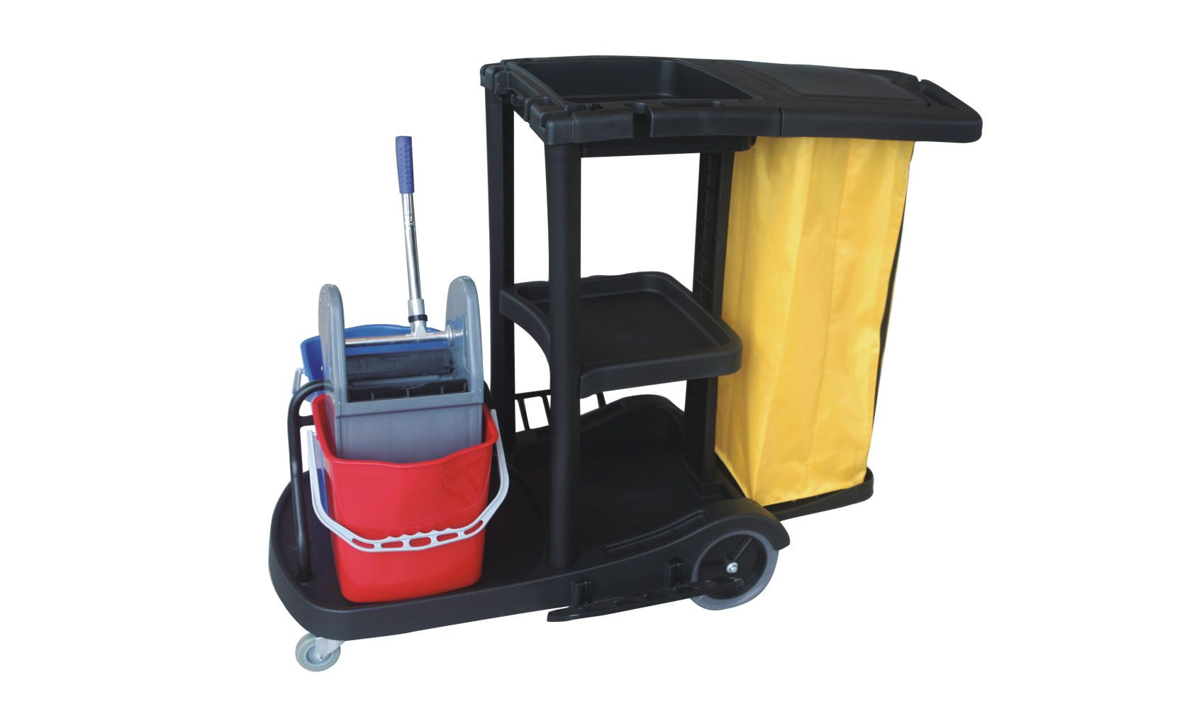 Plasticjanitor Cart Cleaning Maid Trolley