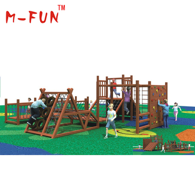 Wooden combined adventure outdoor playground