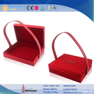 top grade product display boxes red moon cake box