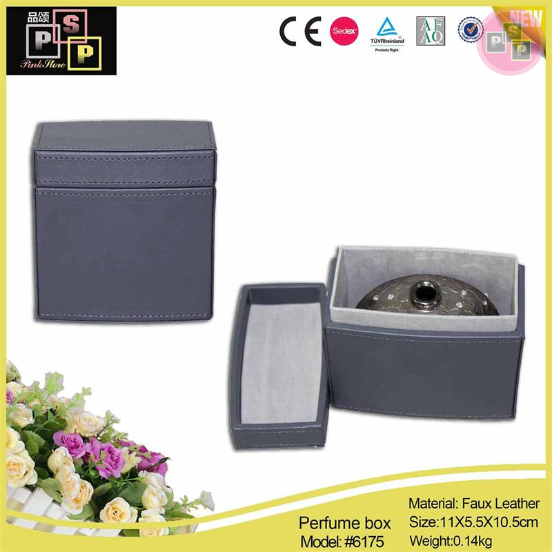 China Supplier 2016 New Design High End custom leather gift perfume box packaging