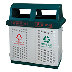 Outdoor waste can with large capacity HW-62