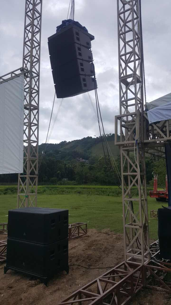 Line array KUDO de Sanway Audio y subwoofer KS28