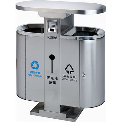 Customer logo Outdoor waste can with cover HW-312