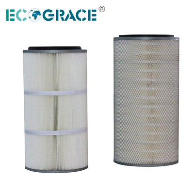 PTFE Membrane Spun Bonded Polyester Air Pleated Filter Cartridge