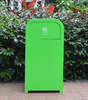 Waste Bin for Outdoor Use with Metal Material