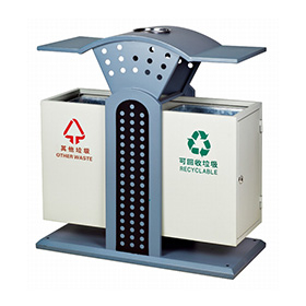 Metal recycling container for outdoor HW-134