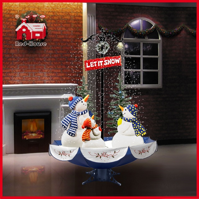 (40110U170-3S-BS) Snowing Christmas Decorations with Umbrella Base