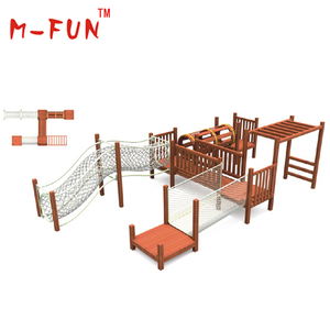 Children wooden outdoor play set