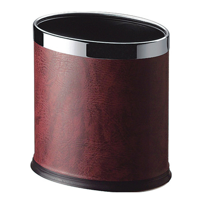 trash can for hotel toilet with leather KL-05P3