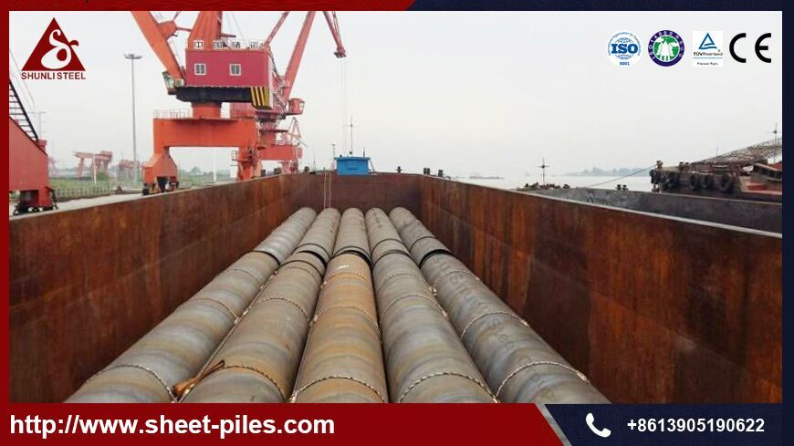Shunli Delivered 2,000MT of Pipe Pile to Middle East