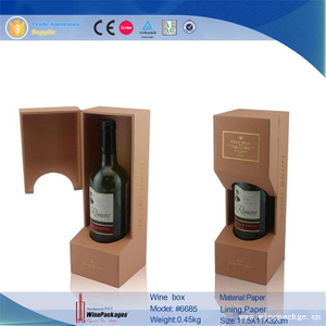 eco board mdf core paper printing cover red wine box