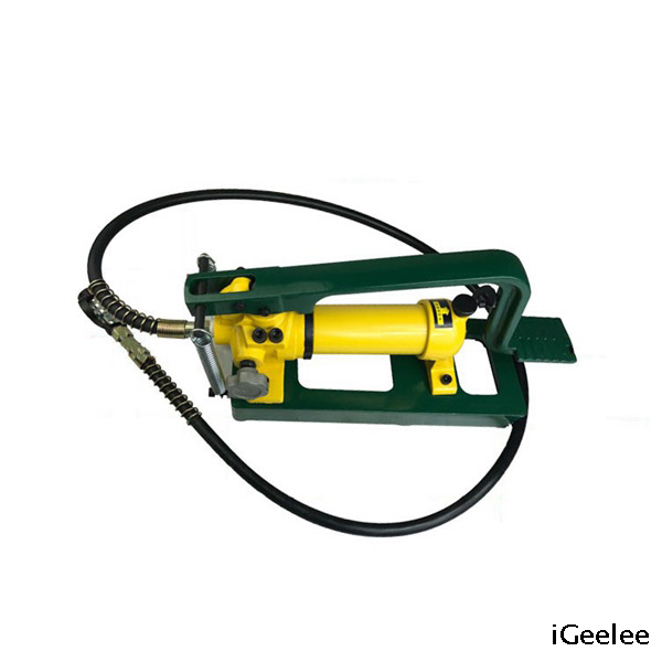 "Foot Operated Hydraulic Pump CFP-800-1 with Coupler Plug of 3/8"" Thread"