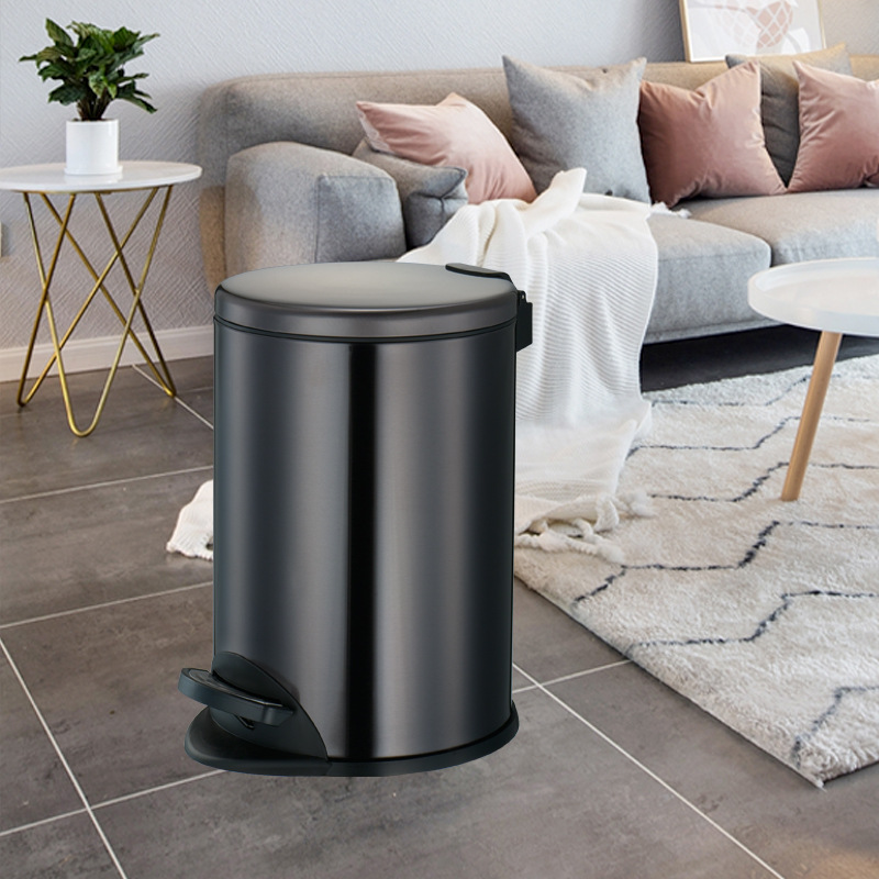 Pedal Waste Bin with Hydraulic Buffer for Five Star Hotel(KL-010A)