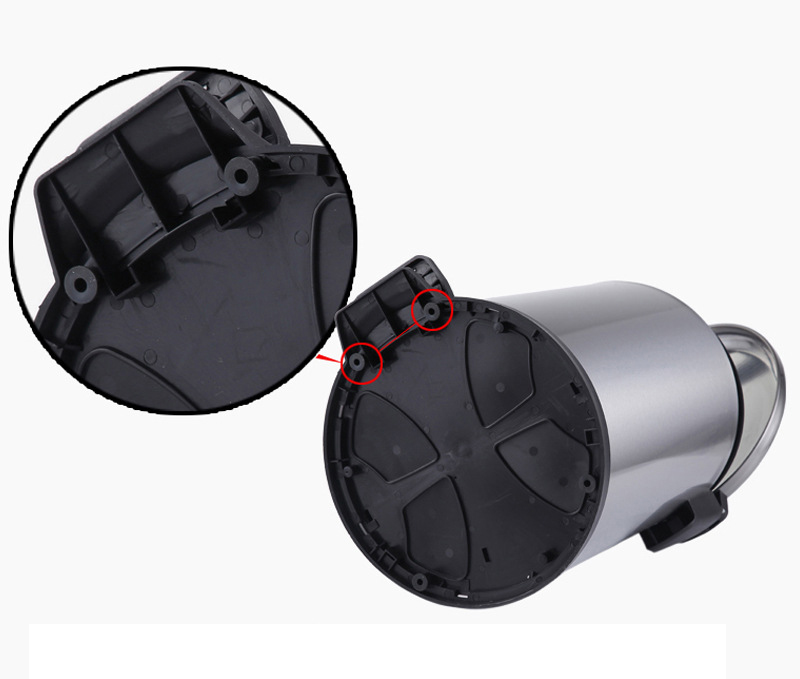 Satin Hydraulic Buffer Round Pedal trash can (KL-016)