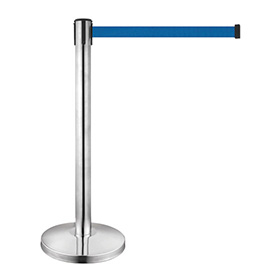 Stainless Steel Retractable Belt railing stand for bank with logo