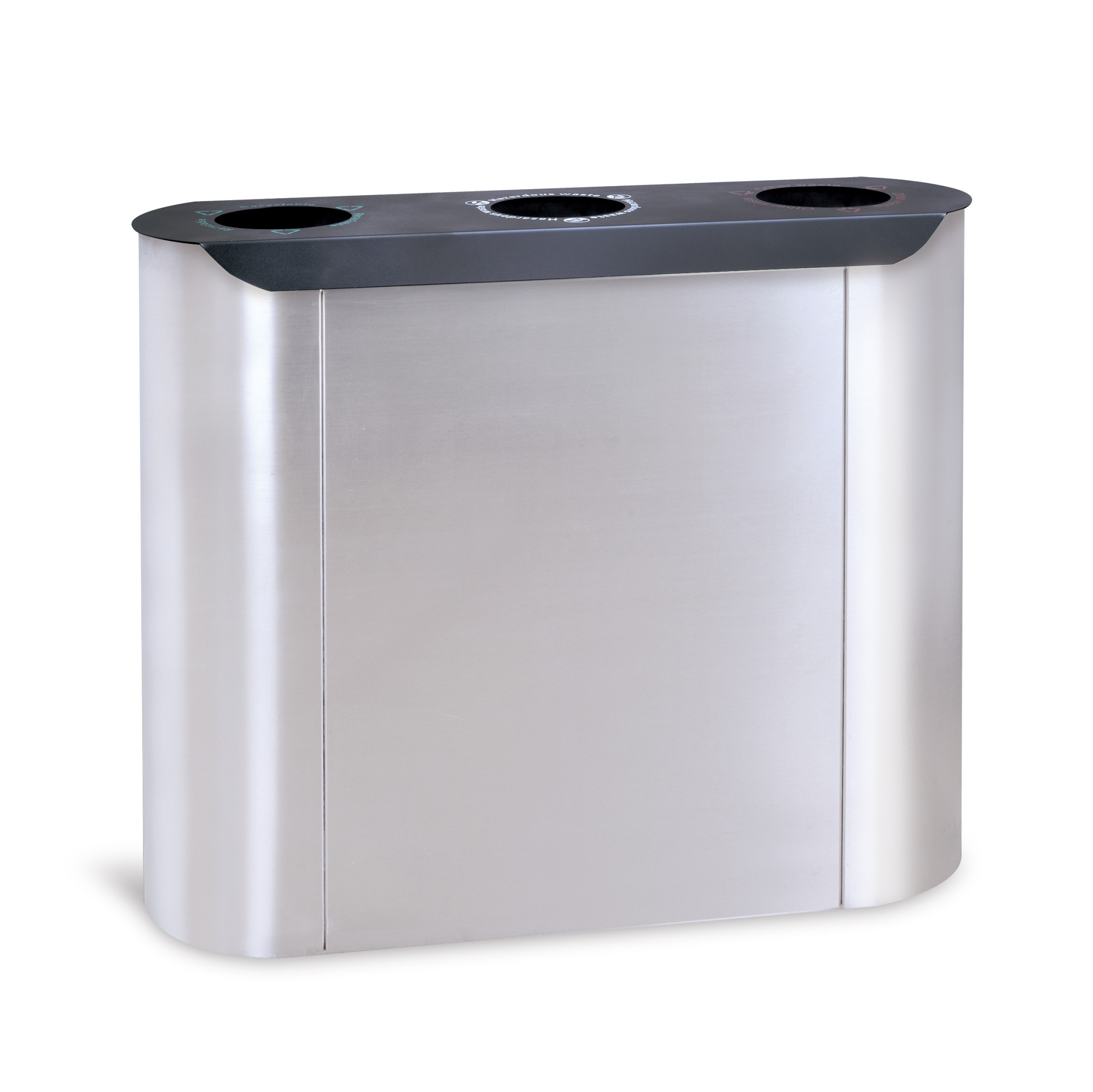 Roundness Commercial waste bin for recycling HW-512