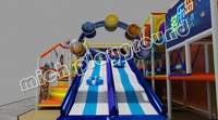 Mich New design donut slide indoor playground set