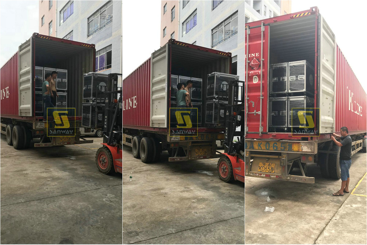WS218X Subwoofers LES1500S Monitors and FP series Amplifiers were Shipped to Europe
