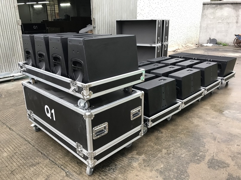 Q1 & Q-SUB 3 Way Active Line Array Speaker
