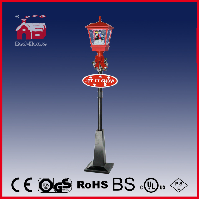 (LV180-3S2-RH) New Stype Snowing Christmas Decorative Street Lamp with LED Light