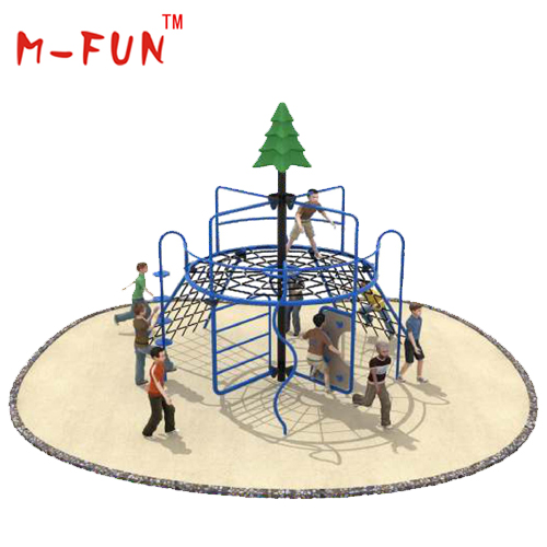 Outdoor taper climbing frame