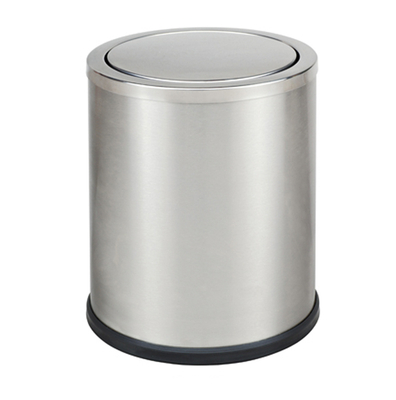 Swivel door stainless steel waste bin KL-52B