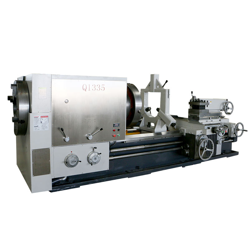Q1335 (360mm big spindle bore) pipe threading lathe machine with CE protection