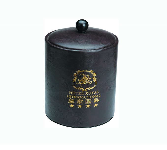 Hotel Guestroom Leather Accessories, PU Ice Bucket (KW-101A)