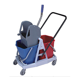 2-Bucket Down-Press Wringer Trolley (YG-076)